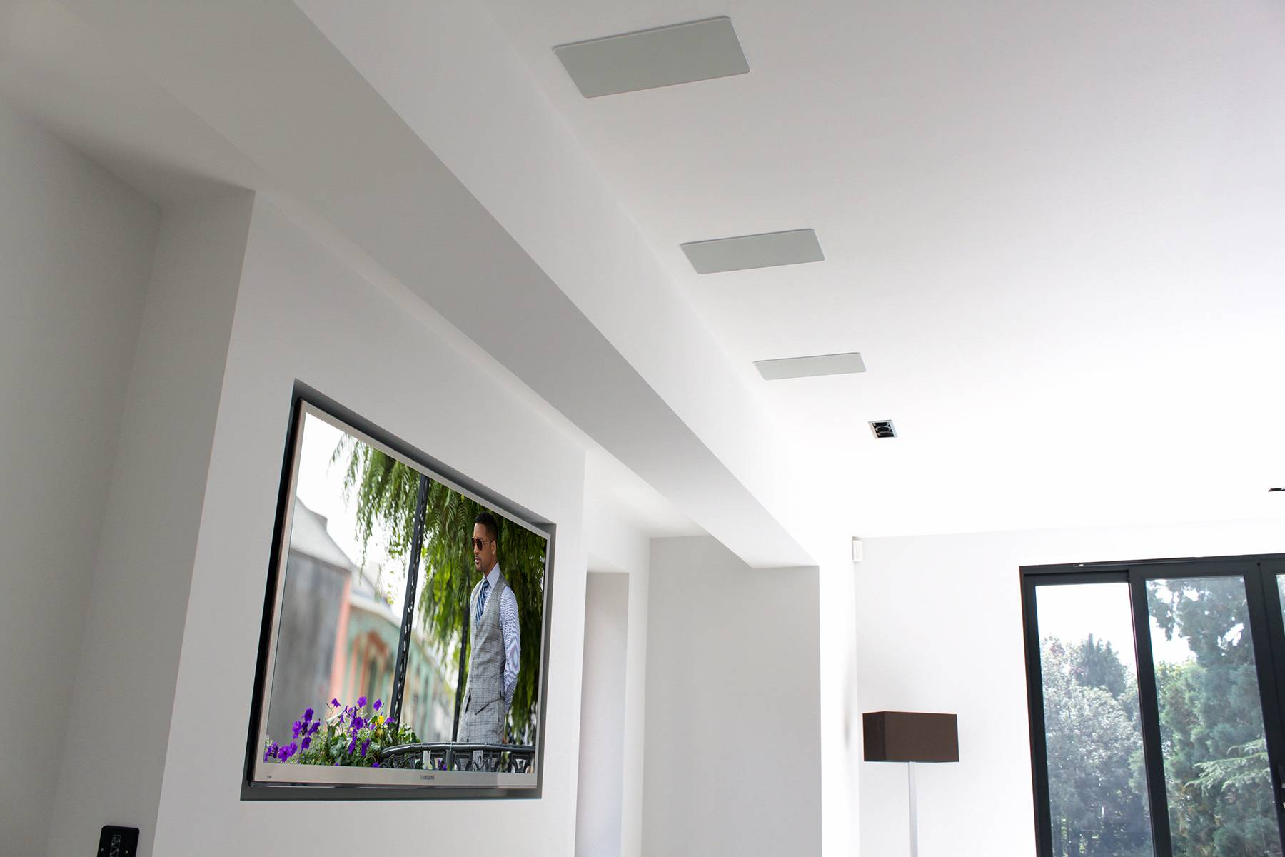 Field Cresent Living Room In-Ceiling LCRs